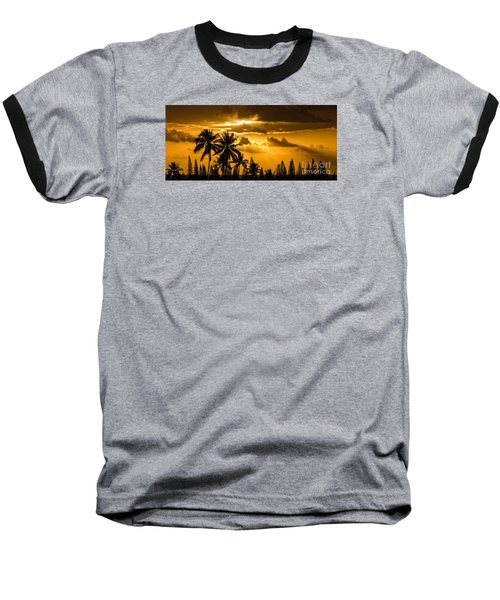 Maui Sunset Baseball T-Shirt