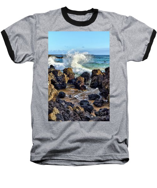 Maui Wave Crash Baseball T-Shirt