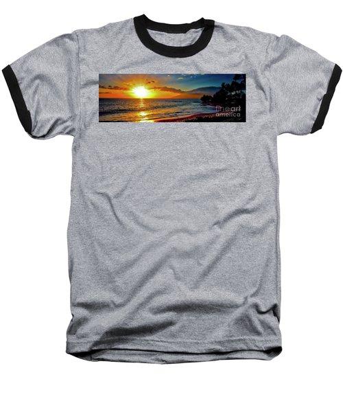 Maui Wedding Beach Sunset  Baseball T-Shirt by Tom Jelen