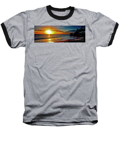 Maui Wedding Beach Sunset  Baseball T-Shirt
