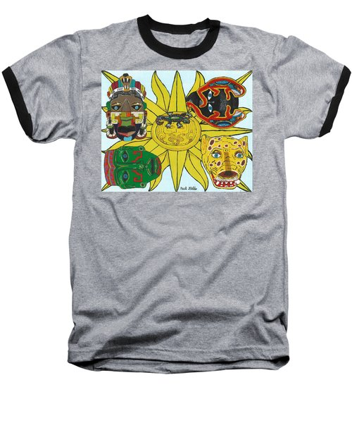 May  Aztec Masks Baseball T-Shirt