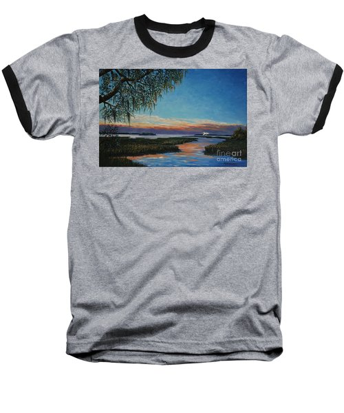 May River Sunset Baseball T-Shirt by Stanton Allaben