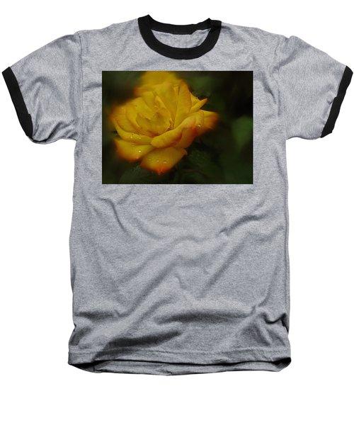 May Rose In The Rain Baseball T-Shirt by Richard Cummings