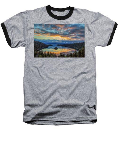 May Sunrise At Emerald Bay Baseball T-Shirt by Marc Crumpler