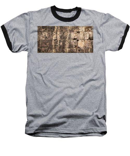 Mayan Hieroglyphics Baseball T-Shirt