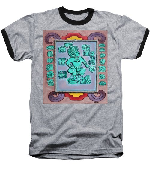 Baseball T-Shirt featuring the painting Mayan Prince by Antonio Romero