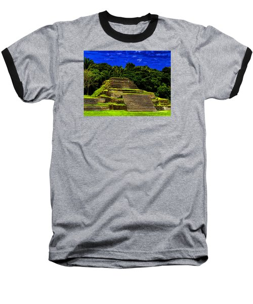 Mayan Temple Baseball T-Shirt