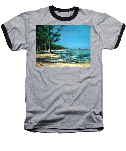 Maybe A Picnic Baseball T-Shirt by Suzanne McKee