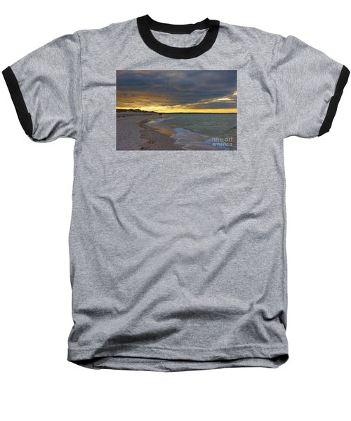 Mayflower Beach Walk Baseball T-Shirt