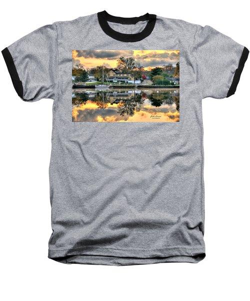 Mays Landing Morning Baseball T-Shirt by John Loreaux