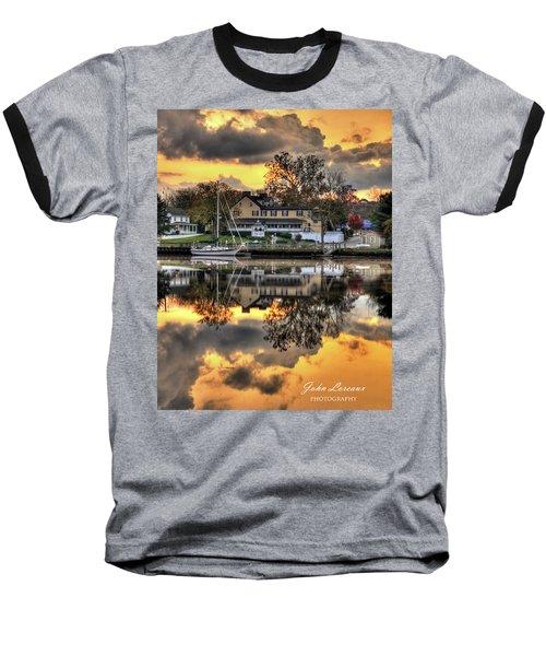 Mays Landing Sunrise Baseball T-Shirt by John Loreaux