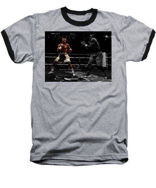 Mayweather And Pacquiao Baseball T-Shirt by Brian Reaves