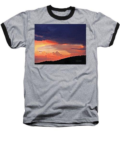 Mazatzal Peak Sunset Baseball T-Shirt