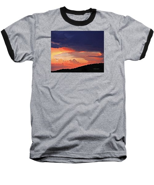 Mazatzal Peak Sunset Baseball T-Shirt