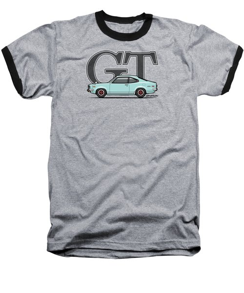 Mazda Savanna Gt Rx-3 Baby Blue Baseball T-Shirt by Monkey Crisis On Mars