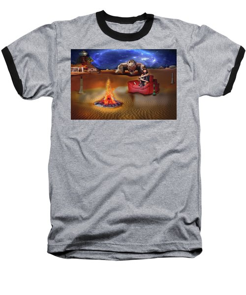 Baseball T-Shirt featuring the digital art Mazzy Stars by Michael Cleere