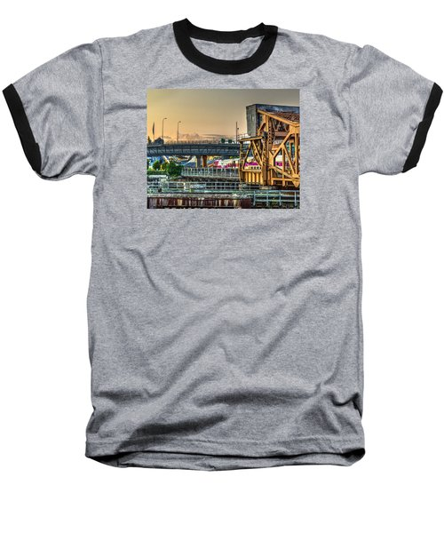 Mbta Bascule Bridge 010 Baseball T-Shirt