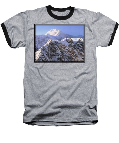 Baseball T-Shirt featuring the photograph Mc Kinley Peak by James Lanigan Thompson MFA