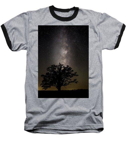 Mcbaine Bur Oak With Milky Way Baseball T-Shirt
