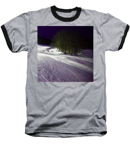 Baseball T-Shirt featuring the photograph Mccauley Evening Snowscape by David Patterson