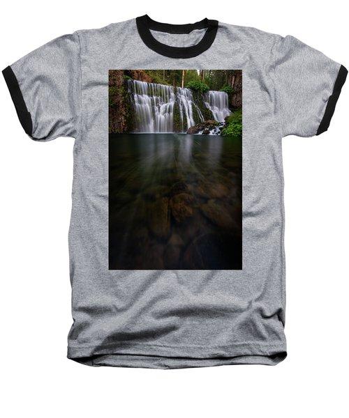 Mccloud Falls Baseball T-Shirt by Dustin LeFevre