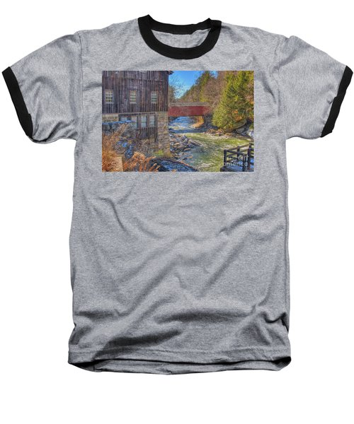 Mcconnells Mill Winter  Baseball T-Shirt