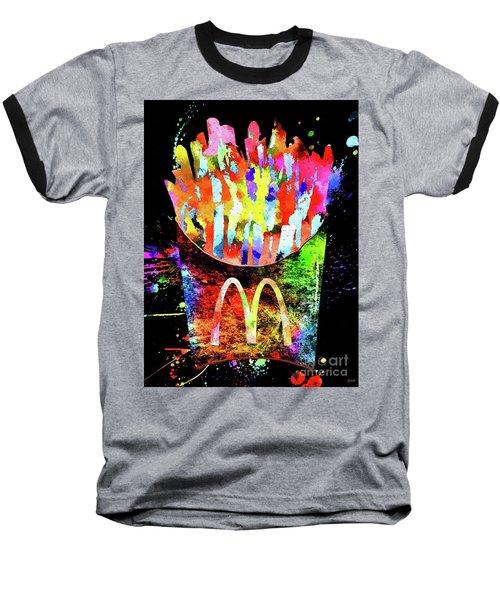 Mcdonald's French Fries Grunge Baseball T-Shirt