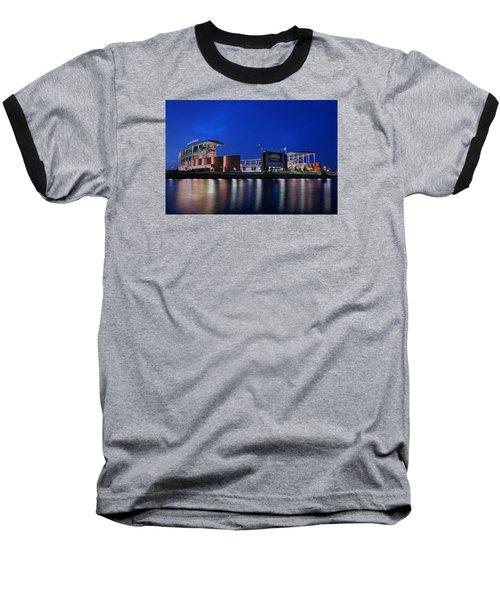 Mclane Stadium Evening Baseball T-Shirt by Stephen Stookey