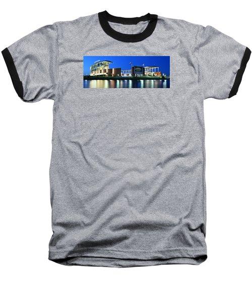 Mclane Stadium Panoramic Baseball T-Shirt by Stephen Stookey