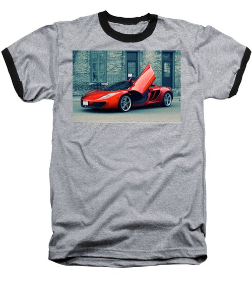 Mclaren Mp4-12c Baseball T-Shirt by Joel Witmeyer