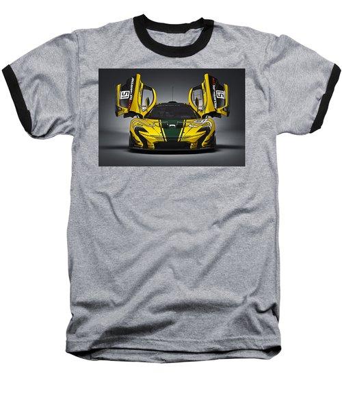 Mclaren P1 Gtr Baseball T-Shirt by Thomas M Pikolin