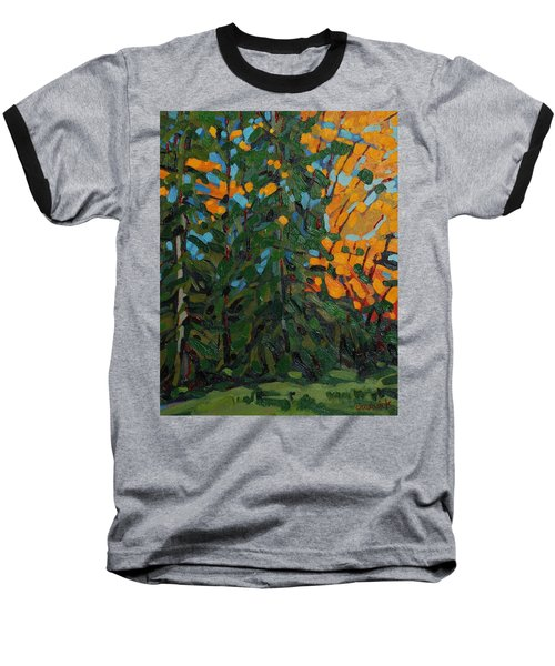 Mcmichael Forest Wall Baseball T-Shirt by Phil Chadwick
