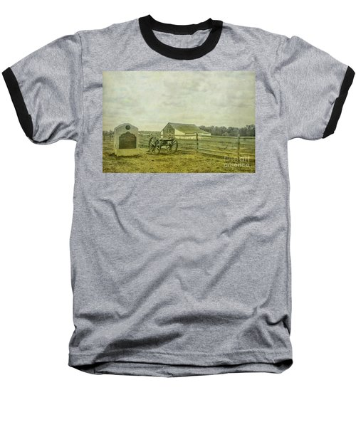 Mcpherson Barn And Cannon Gettysburg  Baseball T-Shirt