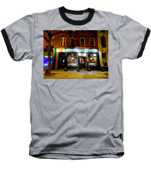 Mcsorleys At Night Baseball T-Shirt by Ed Weidman