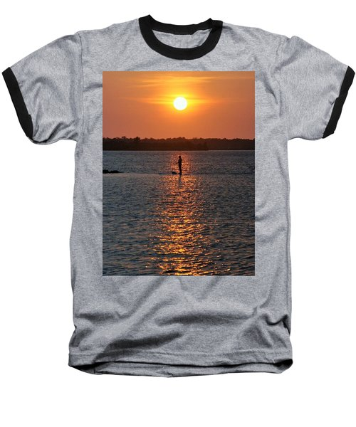 Baseball T-Shirt featuring the photograph Me Time by John Glass
