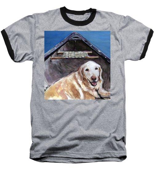Me You Canoe Baseball T-Shirt by Molly Poole