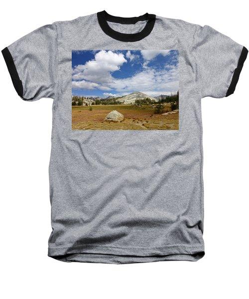 John Muir Trail High Sierra Camp Meadow Baseball T-Shirt by Amelia Racca