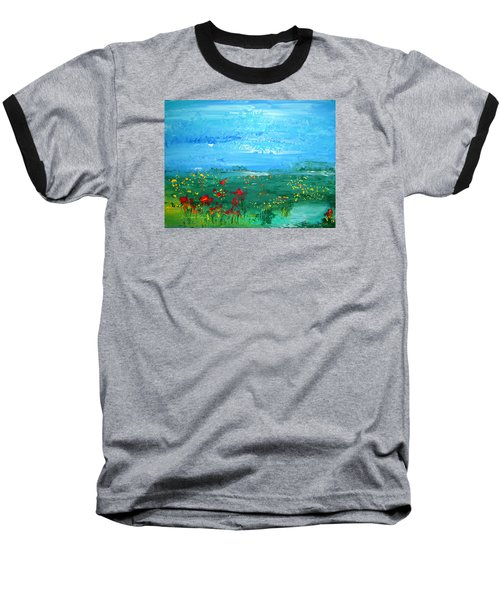 Meadow Pond By Colleen Ranney Baseball T-Shirt