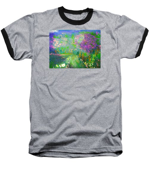 Meadow Trail By Colleen Ranney Baseball T-Shirt