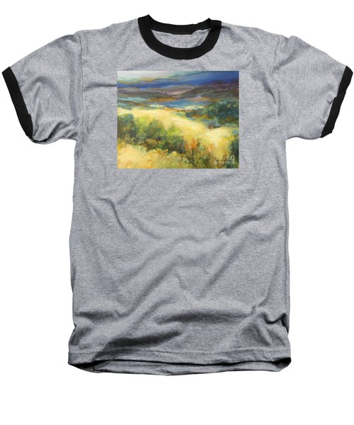Meadowlands Of Gold Baseball T-Shirt by Glory Wood