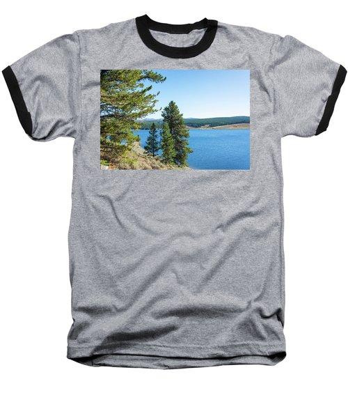 Meadowlark Lake And Trees Baseball T-Shirt
