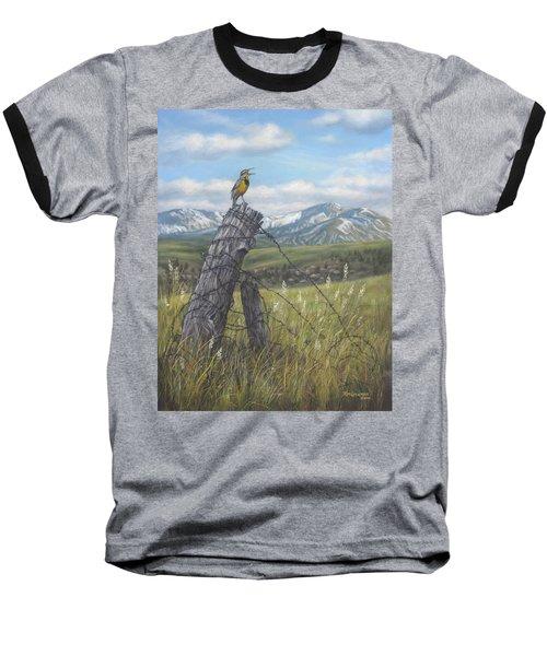 Meadowlark Serenade Baseball T-Shirt
