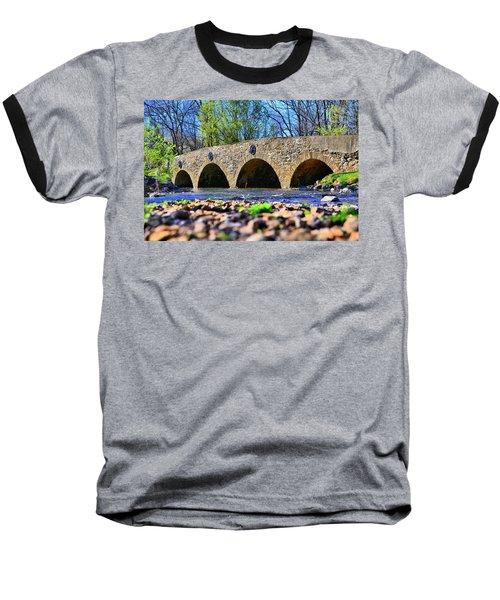 Baseball T-Shirt featuring the photograph Meadows Road Bridge by DJ Florek