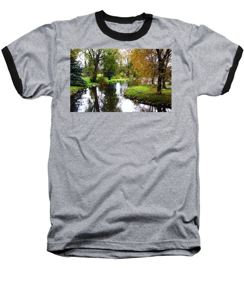 Meandering Creek In Autumn Baseball T-Shirt