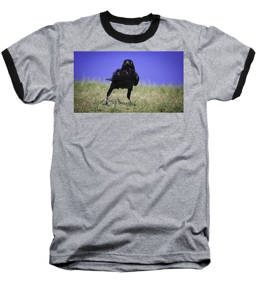 Menacing Crow Baseball T-Shirt