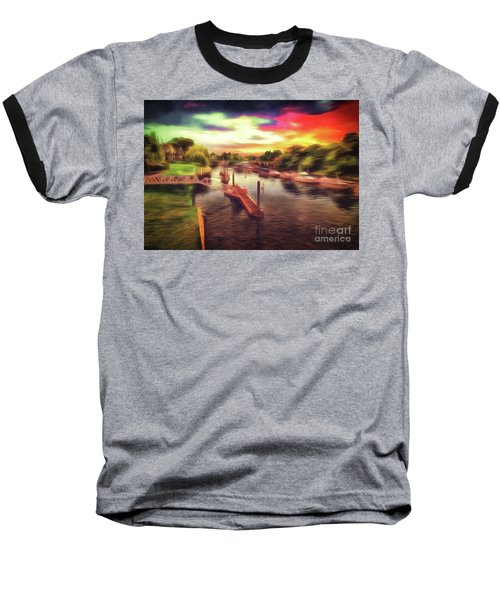 Meanwhile Back On The River Baseball T-Shirt