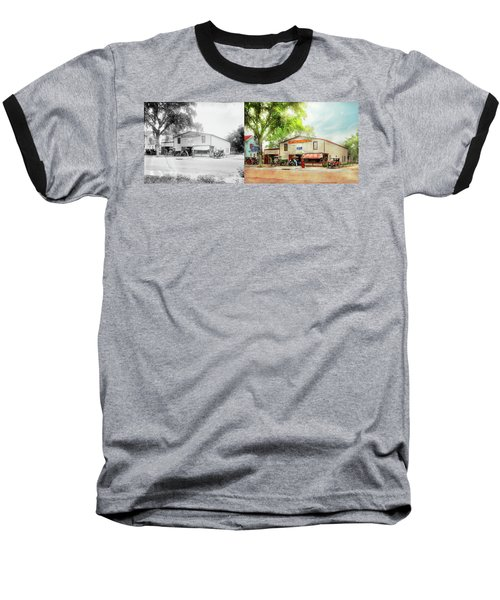 Baseball T-Shirt featuring the photograph Mechanic - All Cars Finely Tuned 1920 - Side By Side by Mike Savad