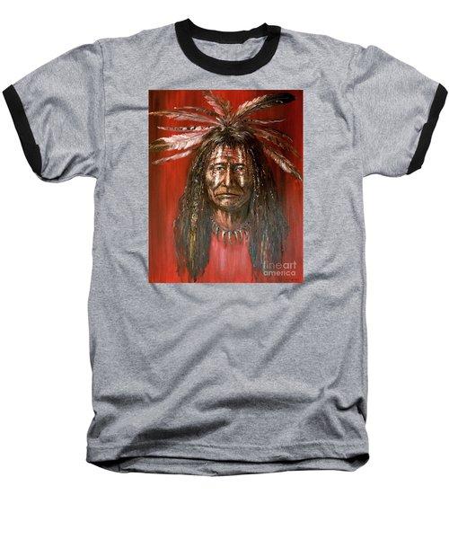 Medicine Man Baseball T-Shirt by Arturas Slapsys