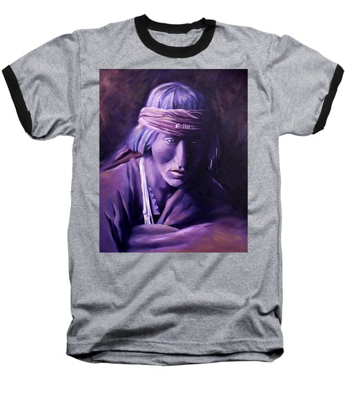 Baseball T-Shirt featuring the painting Medicine Man by Nancy Griswold
