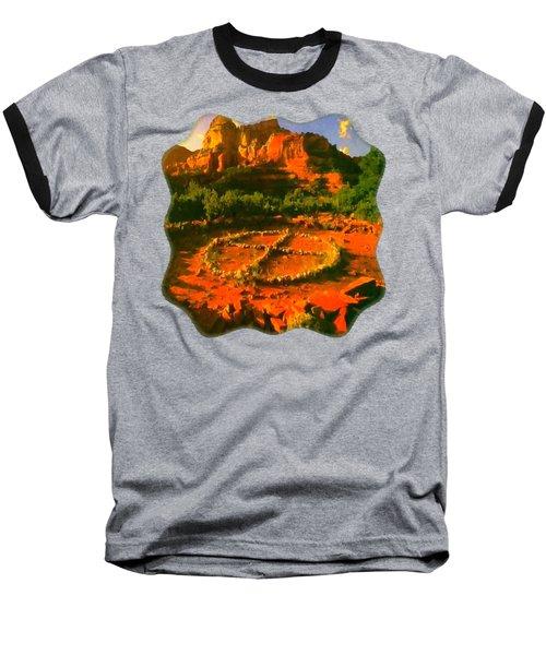 Medicine Wheel Baseball T-Shirt by Raven SiJohn